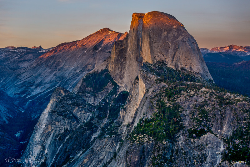 Half Dome and Cloud's Rest at eventide