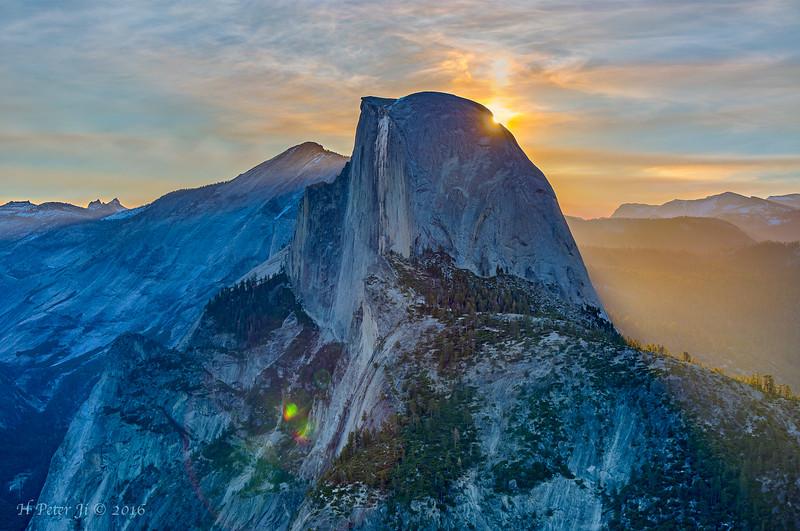 Half Dome at sunrise