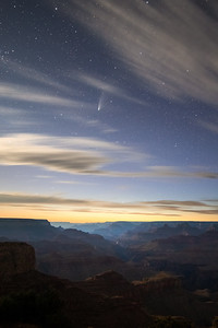 Comet and Moonlight at Moran Point