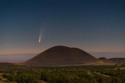 Comet over Merriam Crater