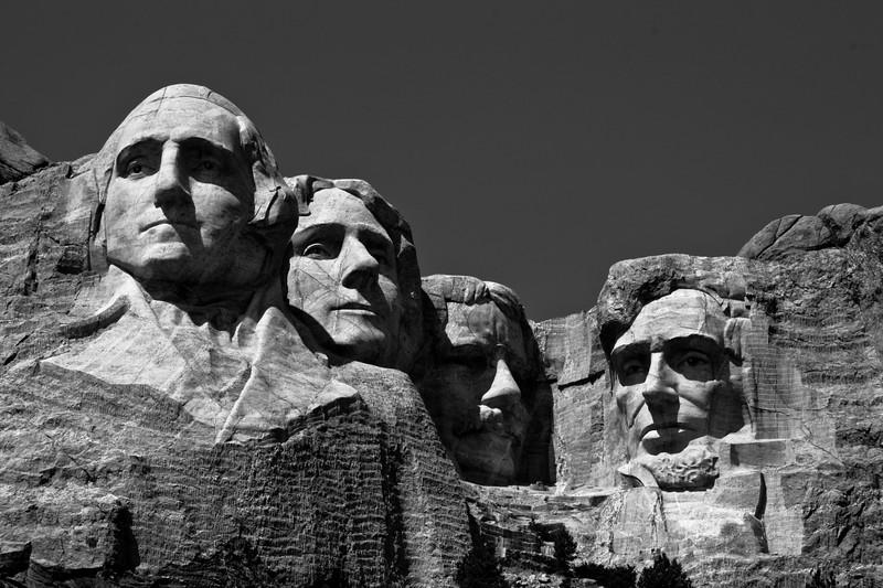 Mount Rushmore (B&W)