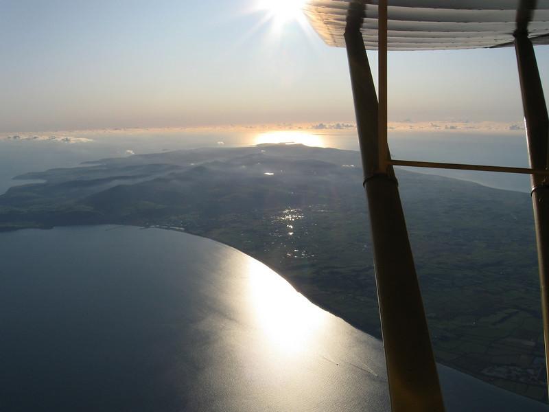 Auster J1 G-AHAU at 10000ft North of the Isle of Man