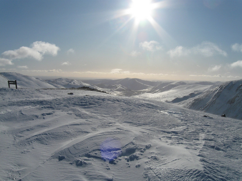 Looking south from the top of the Cairnwell T-Bar