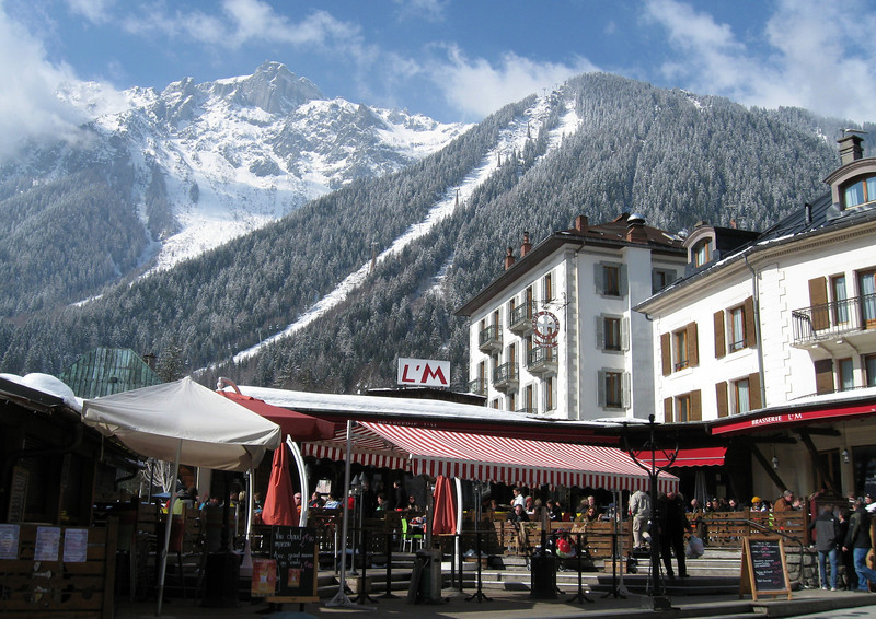 Le Brévent access from the centre of Chamonix