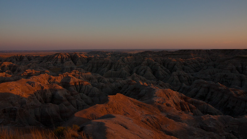 The Badlands Sunset