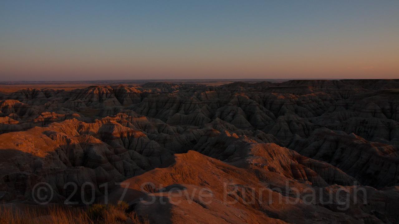 The Badlands Sunset