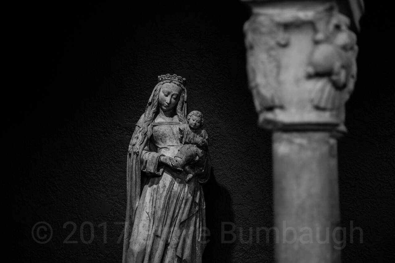 Virgin and Child (B&W)