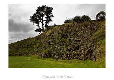 Rock face North Head Devonport New Zealand - 7 Jult 2007