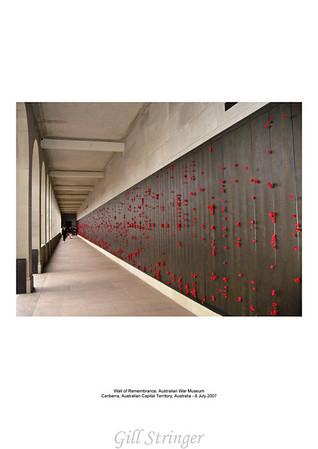 Wall of Remembrance Australian War Museum Canberra, ACT Australia - 8 Jul 2007