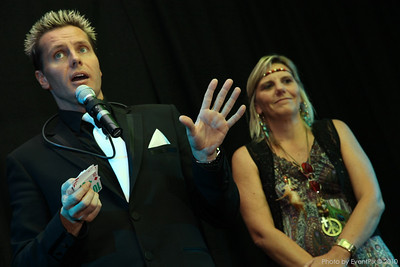 Matt Hollywood performs at a Camp Quality fundraiser in Canberra