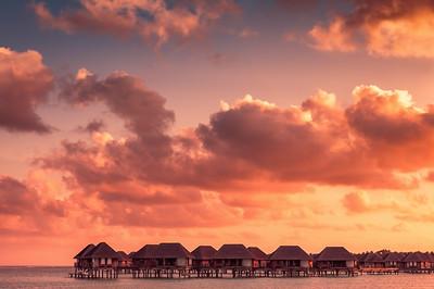 Beautiful Sunset in Maldives