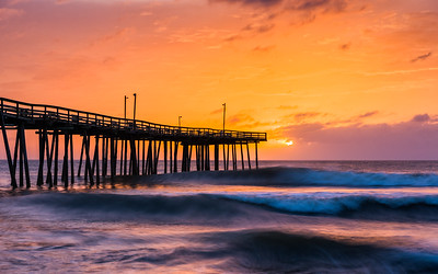 Sunrise Over Nags Head Fishing Pier (3)