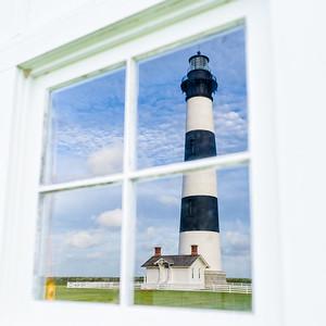Reflecting on Bodie Island Lighthouse