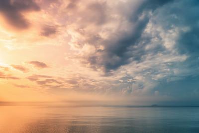 Dramatic Sunrise Seascape