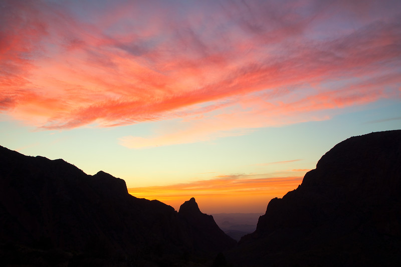 """The View"" sunset, Big Bend National Park, Texas"