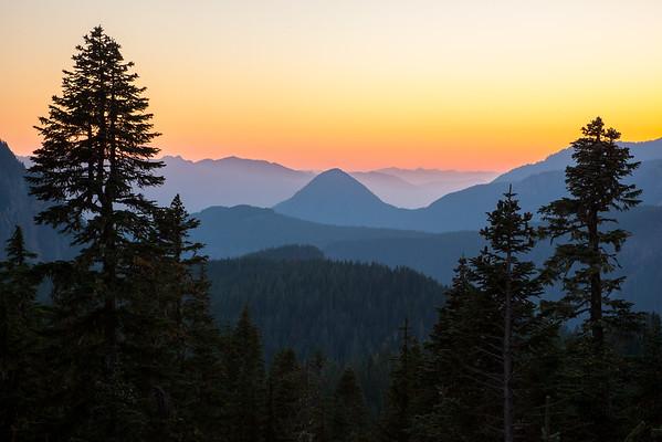 Tumtum Peak Sunset, Mount Rainier National Park, Washington