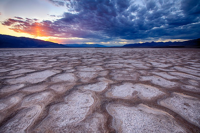 Salt formations in Cotton Ball Basin, Death Valley National Park, California