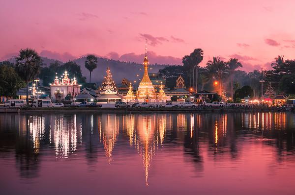 Twilight Time at Wat Jong Klang and Wat Jong Kham