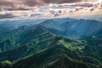 Aerial View of Beautiful Mountain Range
