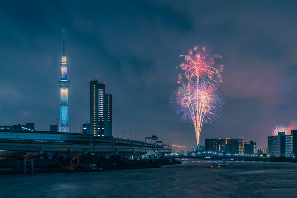 Sumidagawa Fireworks Festival in Tokyo, Japan