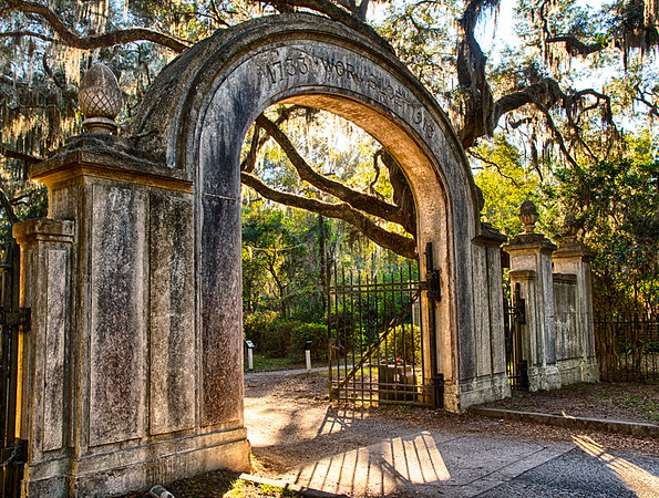 The Historic Gate to Wormsloe Plantation