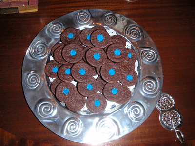 Blue button brownies!