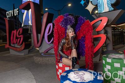 Showgirls On the Las Vegas Strip During the Coronavirus Covid-19 quarantine shut down