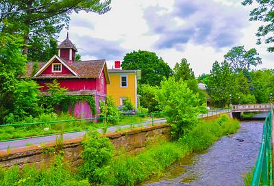 """""""Along Cascadilla Canal,"""" Ithaca, NY, 2015."""