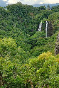 Opaekaa Falls in Wailua, Kauai