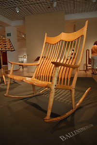 Museum exposition featuring the work of Sam Maloof