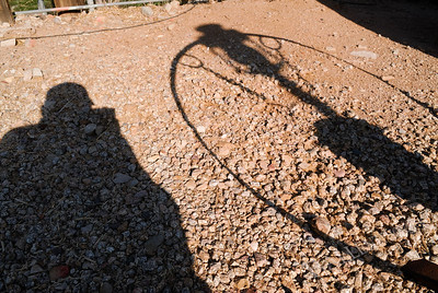 My shadow photographing another shadow.