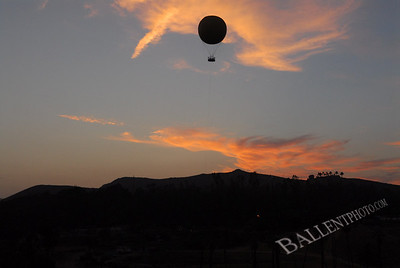 Balloon floating over the San Diego Wild Animal Park.