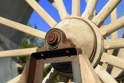Portion of a water wheel