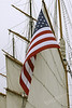 American flag on the Star of India.