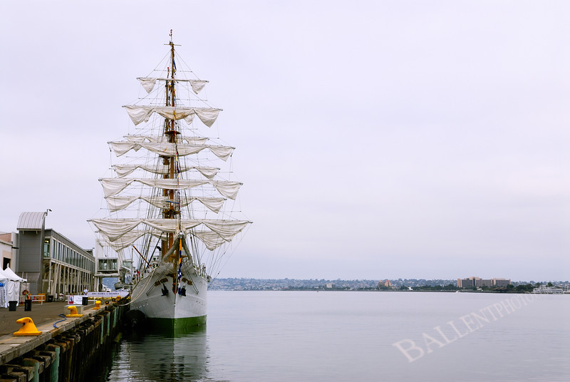 Columbian Navy ship Gloria visiting the Festival of Sail