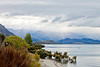 Dramatic sky over Lake Wanaka in the South Island of New Zealand