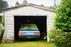 Forgotten car in a garage