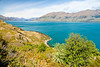 Scenic view of Lake Wanaka in the South Island of New Zealand