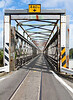 Combined one lane rail and road bridge in Hokitika, New Zealand
