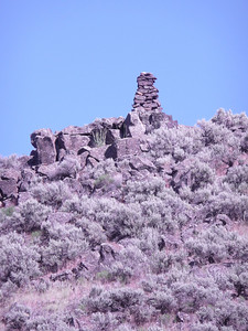 June 26, 2010 Rock Carin on top the hill @ Site 15 Winter Camp N42 33.245 W115 30.337