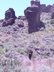 Ken going for a walk June 26, 2010 Sherry @ Site 12 Little City of Rocks N43 07.146 W114 41.321 4755 ft