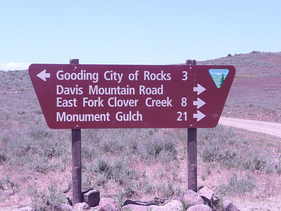 """June 26, 2010  I went to Gooding City of Rocks instead of """"Little City of Rocks"""", it was worth it! The confusion started with the description on the IAMC website, it stated: Gooding City of Rocks  City of Rocks is an area of unusual and highly scenic rock formations. Erosion has carved fascinating spires and hoodoos from the underlying deposits of solidified volcanic ash. Excellent hiking, sightseeing and solitude.  Location: About 15 miles north of Gooding on Highway 46, turn west at the BLM sign for City of Rocks. Follow the signs and travel about 7.5 miles on a generally well-maintained dirt road, which is suitable for passenger vehicles if conditions are dry."""