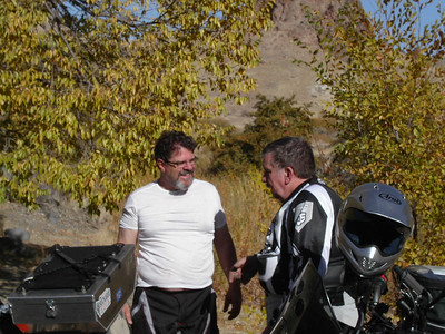 "Tim & John discuss the finer points of Dual Sporting, ""Are you sure you brought the mustard for the hot dogs."""