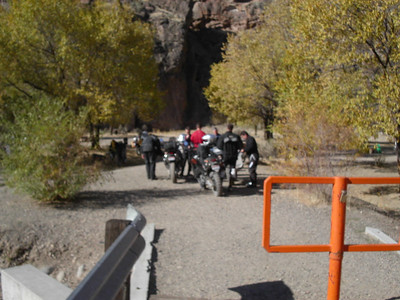 "Succor Creek bridge barriers. Width is 37""! The Pumpkin made it."
