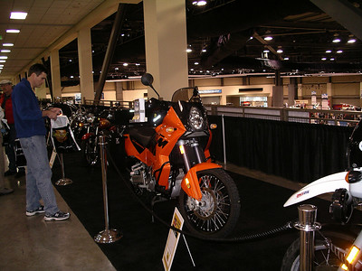 The KTM in the Sound Rider display.