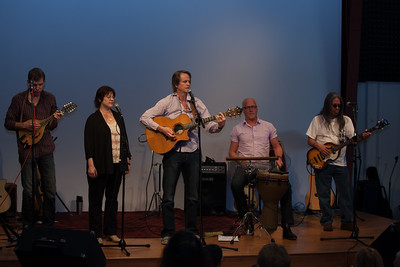 From left: Barrett Tagliarino, Tara Sitser , John Zipperer, Jeff Kossack and Jime Van Booven - Folktacular 2013