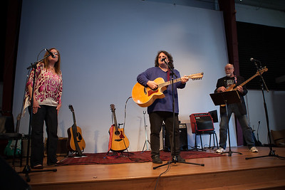 John M with Elise Birdsall and Chad Watson - Folktacular 2013