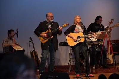 From left: Brad Swanson, Chad Watson, Pam Loe and Freebo - Folktacular 2013