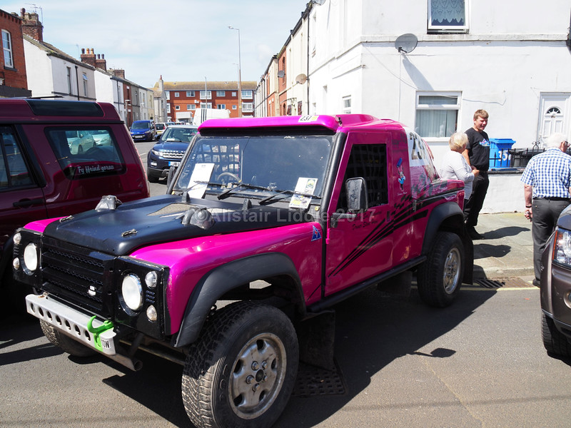 70. Heavily modified Land Rover Defender