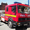 86. Cheshire Fire and Rescue Service Mercedes-Benz 1124 K630 KMB transporter for the Shand mason water pump